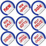 Blue sticker sticker Royalty Free Stock Images