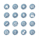 Blue sticker web icons Stock Image