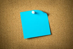 Blue sticky note Royalty Free Stock Photos