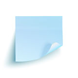 Blue sticky note  on white background Royalty Free Stock Photography