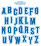 Blue stitch alphabet Royalty Free Stock Image