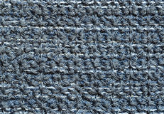 Blue stitched fabric Royalty Free Stock Photo