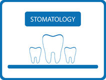 Stomatology background with tooth Stock Photography