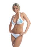 Blue Stone Bikini stock photography