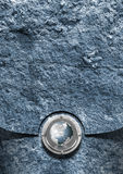 Blue Stone Business Background. Business background with blue stone and metal plate with globe Stock Photography
