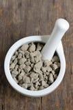 Blue stone clay Stock Photo