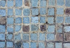 Blue Stone Cobbled Wall Stock Images