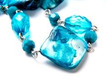 Blue Stone Necklace Stock Image