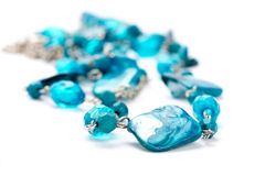 Blue Stone Necklace Royalty Free Stock Images