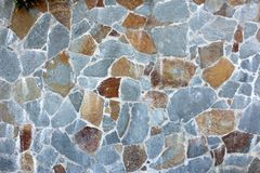 Blue Stone Wall Royalty Free Stock Image