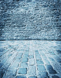 Blue stone wall Stock Photography