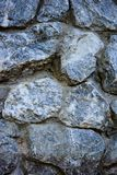 Blue stone wall texture. Material royalty free stock photos