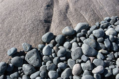 Blue stones. Sea Royalty Free Stock Photography