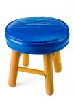 Blue Stool. Isolated on White royalty free stock photos