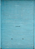 Blue store door Stock Photo