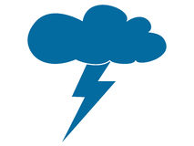Blue storm cloud Royalty Free Stock Images