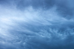 Blue storm clouds background Royalty Free Stock Image