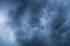Blue storm clouds background Royalty Free Stock Images