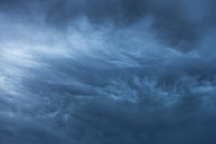 Blue storm clouds background Royalty Free Stock Photo