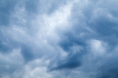 Blue stormy clouds, natural sky background photo Stock Photo