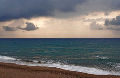 Blue stormy sea Stock Photos