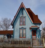 Blue Storybook House Royalty Free Stock Photo