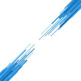 Blue Straight Lines Abstract Background. Vector Stock Photography