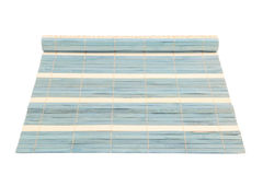 Blue straw rug Stock Photo