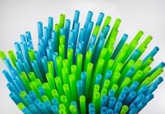 Blue Straws Stock Photo