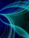 Blue streak background. Bright blue streaks creating artistic waves and designs on a dark background Royalty Free Stock Photo