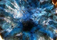 blue streaky pottery texture Stock Photography
