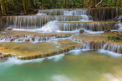 Blue stream water falls, located in Western of Thailand Stock Image