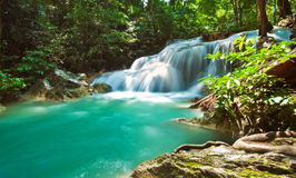 Blue stream waterfall Royalty Free Stock Photography