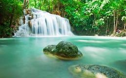 Blue stream waterfall Royalty Free Stock Photo