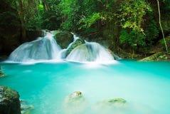 Blue stream waterfall Stock Photos