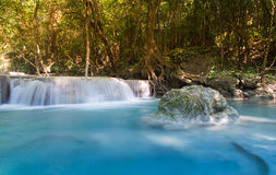 Blue stream waterfall Royalty Free Stock Images