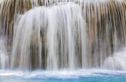 Blue stream waterfalls close up background Stock Photos