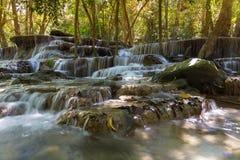 Blue stream waterfalls Royalty Free Stock Photos