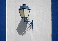 Blue street lamp Royalty Free Stock Photos