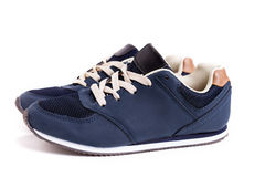 Blue Street Shoes Royalty Free Stock Image