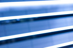 Blue stretch of LED lines. Night light background Stock Images