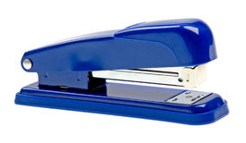 Free Blue Strip Stapler Isolated On White Stock Photography - 10014542