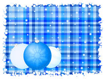 Blue stripe christmas background Stock Images