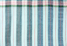 Blue stripe fabric texture Royalty Free Stock Images