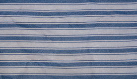 Blue stripe fabric Royalty Free Stock Images