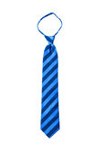 Blue stripe fancy necktie isolate Stock Photos