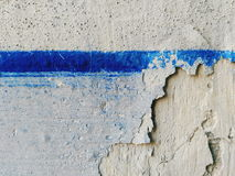 Blue stripe on the old wall, texture Royalty Free Stock Image