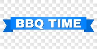 Free Blue Stripe With BBQ TIME Caption Royalty Free Stock Photography - 137246437