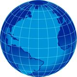 Blue stripe word globe Royalty Free Stock Images