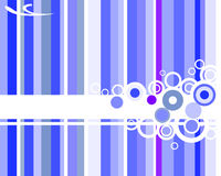 Blue striped background. Vector illustration of blue abstract elements Royalty Free Stock Photos